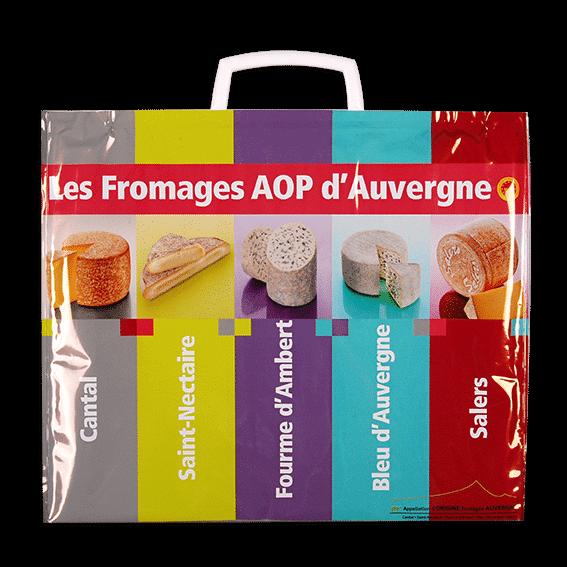 """Modèle de sac isotherme """"Fromages AOP d'Auvergne"""""""