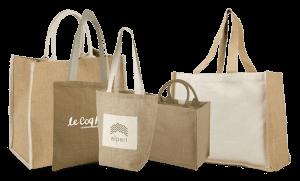 Notre gamme de sacs en toile de jute
