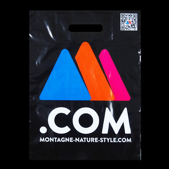 Exemple de sac en plastique pour Espace Montagne